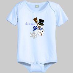 Let It Snow with Snowman Infant/Toddler 1-Piece