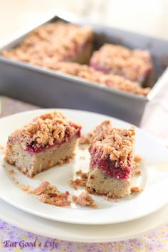 Eat Good 4 Life Gluten free almond and raspberry coffee cake