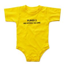 Look what I found at UncommonGoods: player 3 babysuit... *For Isenhowers or another family who play video games together!*