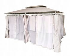 Pavilion de gradina crem cu perdele 3x4 Pavilion, First Up Canopy, Sheds, Cabana