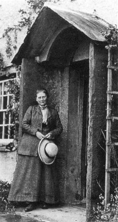 Children's author and illustrator Beatrix Potter at her Lake District Home, Hill Top. She broke away from her wealthy family as a single woman and pursued her creative dreams. She published Peter Rabbit in 1902 and went on to publish 23 stories. Later, she married and settled down into sheep farming. When she died, her land was given to the British National Trust.