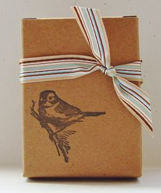 Make Your Own Gift Set. Like the idea of wrapping hand-made soap like this.