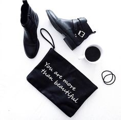 My lovely black stylish flats - and that bag