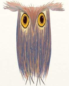 "Saatchi Online Artist: Michelle Brenmark; Paintinartg 2013 New Media ""The Odd Owl"""