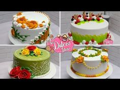 Amazing Cake Decorating Compilation Most Satisfying Buttercream Cake, Frosting, Cake Decorating Designs, Cake Craft, Most Satisfying, Rose Cake, Biscuits, Amazing Cakes, Food Styling