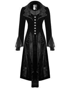 Punk Rave Jacket Frock Coat Black Velvet Gothic Steampunk VTG Victorian Regency: Amazon.co.uk: Clothing