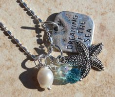 22+Sterling+Silver+Beach+Necklace+Starfish+Dreaming+by+InaraJewels
