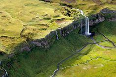 Islande vue du ciel par Sarah Martinet