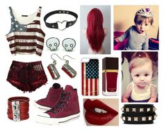 """Babysitting Copeland for Kellin and Katelyn"" by skye-mist ❤ liked on Polyvore featuring SCARLETT, Converse, Uno de 50, CellPowerCases, Tom Ford, Charlotte Tilbury and Valentino"