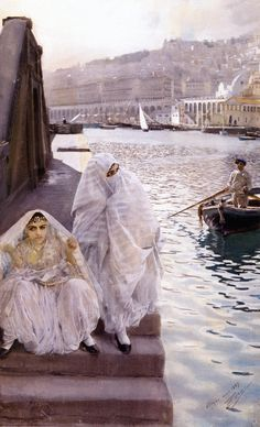 The Athenaeum - From Algiers Harbor (Anders Zorn - )