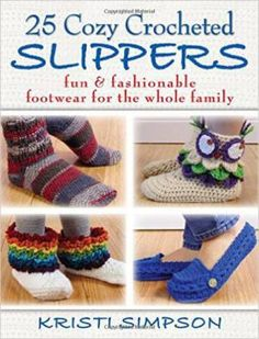 25 Cozy Crocheted Slipper Patterns - great for making #crochet #Christmas gifts!