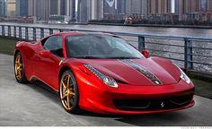 Dragon-tattooed 458 Italia Ferrari, base priced at 500,000 dollars in China.