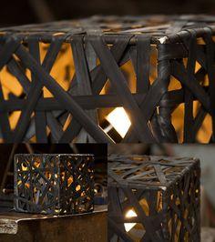 Light made from bike inner tubes