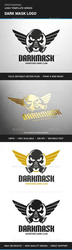 Dark Mask Logo Template - Humans Logo Templates