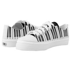 Piano Keyboard Design Sneakers Printed Shoes - for music lovers and piano players!