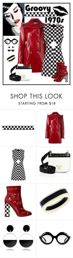 """""""Dolce & Gabbana  Graffiti Leather Ankle Boots Look"""" by romaboots-1 ❤ liked on Polyvore featuring Philosophy di Lorenzo Serafini, Courrèges, Prada, Dolce&Gabbana, INC International Concepts, Marni and Gucci"""