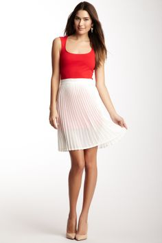 Chiffon Pleated Skirt   http://www.stylenfashion.net/women/american-apparel-blowout-2