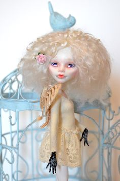 Lilly OOAK Monster High Doll Repaint Custom C A Cupid Reroot Mohair Outfit | eBay