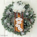 Let It Snow DIY Winter Wreath