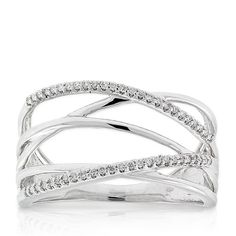 Diamond Crossover Ring 14K :: Ben Bridge Jeweler