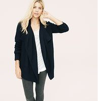 Lou & Grey Mixstitch Open Cardigan - Designed with a luxe touch of merino wool, this mix-stitched style is one to cozy up to. Draped open front. Long sleeves. €69.78.