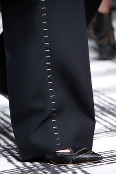 Trouser seam treatment- Balenciaga Fall 2015 Ready-to-Wear - Details - Gallery - Style.com