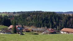 Les fermes typiques de la région du haut-doubs en France