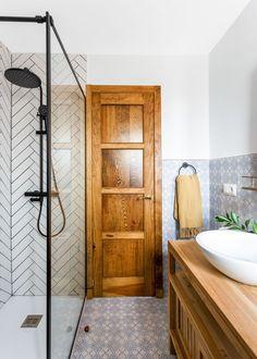 La decoración de una casa rústica moderna Comedor Office, Vanity, Green Painted Furniture, Plaster Of Paris, Tablecloth Curtains, Painted Walls, Bamboo Headboard, Hidden Closet, Teak Table