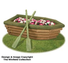 Row Boat Flower Planter Woodcraft Pattern by DocHolidays on Etsy