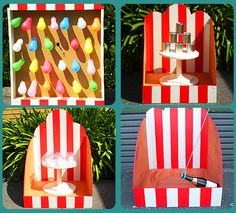 A great compilation of Unique Carnival Decorations Carnival Party Decoration Ideas images presented by Tina Jackson, home makeover specialist of Wisa. Carnival Party Games, Carnival Party Decorations, Carnival Supplies, Homemade Carnival Games, Circus Theme Party, Carnival Birthday Parties, Circus Birthday, Birthday Party Games, Birthday Decorations