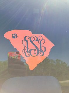 Clemson Paw SC State Monogrammed Decal on Etsy, $5.00