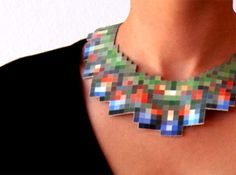 Are you serious! Pixelated jewelry! Oh man, that is so going to go with my pixelated tattoo!!!