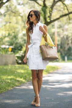 the cutest summer dress under $30 #bananarepublic