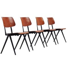 Industrial Galvanitas Stacking Chairs 1970 | From a unique collection of antique and modern chairs at http://www.1stdibs.com/furniture/seating/chairs/