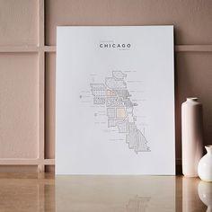 42 Pressed Roam Map - Chicago | west elm