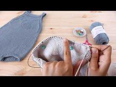 "Tricotar para bebé - ""Fofo Baleia"" - video tutorial 2ª parte (baby overall tutorial) - YouTube"