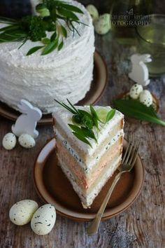 Régóta terveztem, hogy sós tortát készítek. Az ilyesfajta torta olyan, akár egy szendvics. Reggelire, uzsonnára és vendégvárónak... Feta, Diy And Crafts, Food And Drink, Cooking Recipes, Cheese, Party, Pizza, Chef Recipes, Parties