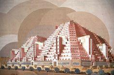 Immeuble Metropolis, París, Francia, 1928 [proyecto] - Henri Sauvage via Studyblue
