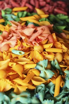 Hand Dyed Pasta for Sensory Bins