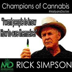 "On November 25th 2009, Rick Simpson was crowned ""Freedom Fighter of the Year"" at the Cannabis Cup in Amsterdam after being arrested for growing cannabis which he turned into essential hemp oils used to cure cancer. Today we Crown him a Champion of Cannabis! #MarijuanaDoctors"