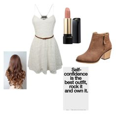 """""""Untitled #3"""" by ellanason ❤ liked on Polyvore featuring LE3NO and Lancôme"""