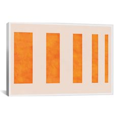 Modern Art Orange Levies Painting Print on Canvas