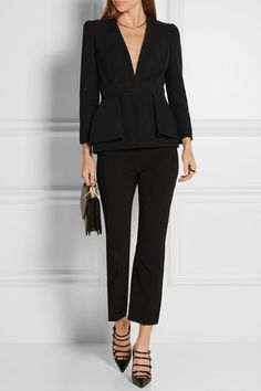 Canada Goose womens outlet authentic - Givenchy | Peplum coat in wool-crepe | NET-A-PORTER.COM | Perfect ...