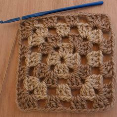 Learning to crochet ~ granny squares were the first thing I did ... even uglier ~ brown and white!! =) I was about 8 or 9...