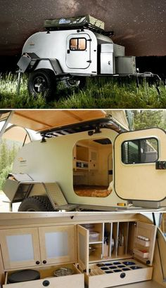Camper trailers are costly, but sometimes a used horse trailer isn't. Horse trailers can be transformed into camper trailers very economically in case. Off Road Trailer, Small Trailer, Off Road Camper, Off Road Teardrop Trailer, Mini Camper, Cool Campers, Rv Campers, Camper Trailers, Horse Trailers