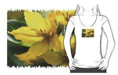 Lysimachia T-Shirt - JUSTART on Redbubble  #justart #redbubble #tshirt #fashion #design #floral #flower #lysimachia #yellow #green #summer #garden #botanical