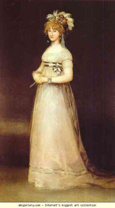 Francisco de Goya. Portrait of the Countess of Chinchón.