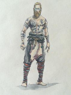 Baldur from God of War 4 not my art Character Concept, Concept Art, Character Design, Mad Max, Ps Wallpaper, Kratos God Of War, God Tattoos, Norse Mythology, Game Art
