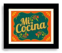 Mexican Kitchen Art Print Decor I Love My Kitchen Artwork