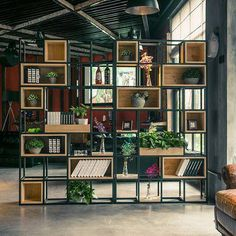 Regal 48 Awesome Bookshelf Ideas To Decorate Your Room Orchid Flowers - Growing Indoors orchids, orc Vintage Industrial Decor, Industrial Interiors, Industrial House, Industrial Storage, Kitchen Industrial, Urban Industrial, Industrial Lighting, Industrial Bookshelf, Vintage Metal